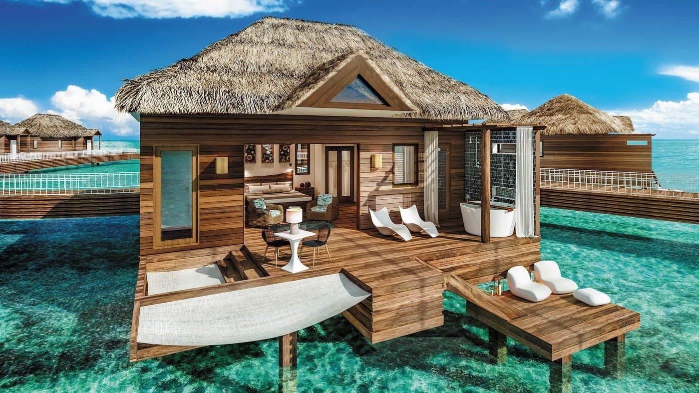 Overwater-Bungalow auf Jamaica (c) Sandals Resorts International
