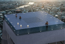Bild von London erhält einen weltweit einzigartigen Rooftop-Pool