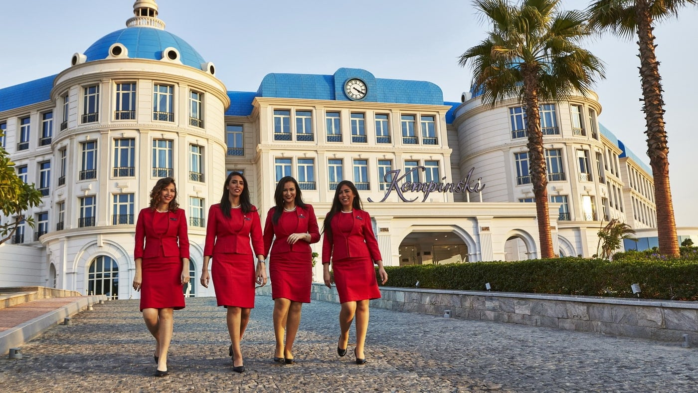 Lady in Red Kempinski Hotels