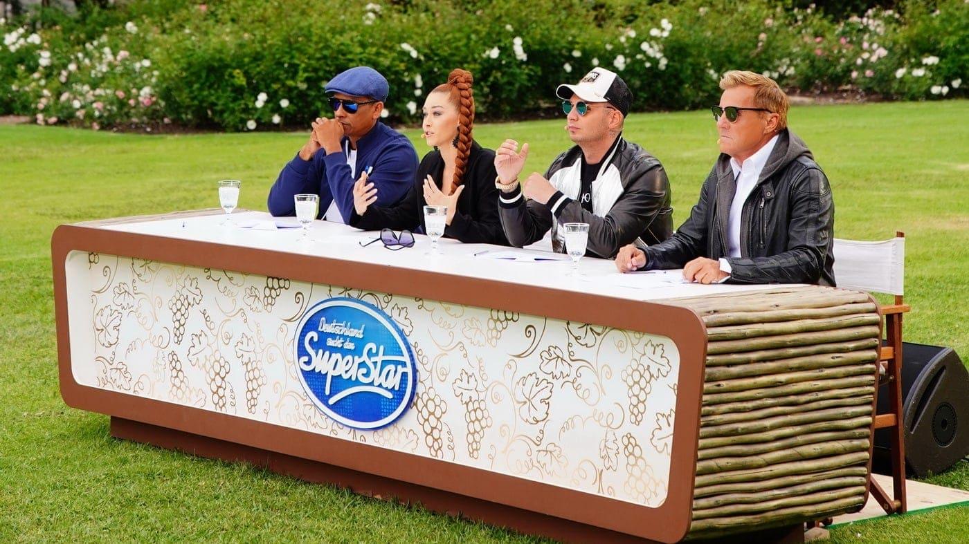 """""""Deutschland sucht den Superstar"""" in Südafrika: Xavier Naidoo, Oana Nechiti, Pietro Lombardi und Dieter Bohlen (c) TVNOW Stefan Gregorowius"""