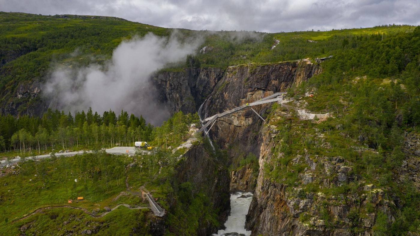 Treppenbrücke über dem Vøringsfossen (c) Harald Christian Eiken / vmproduksjon.no