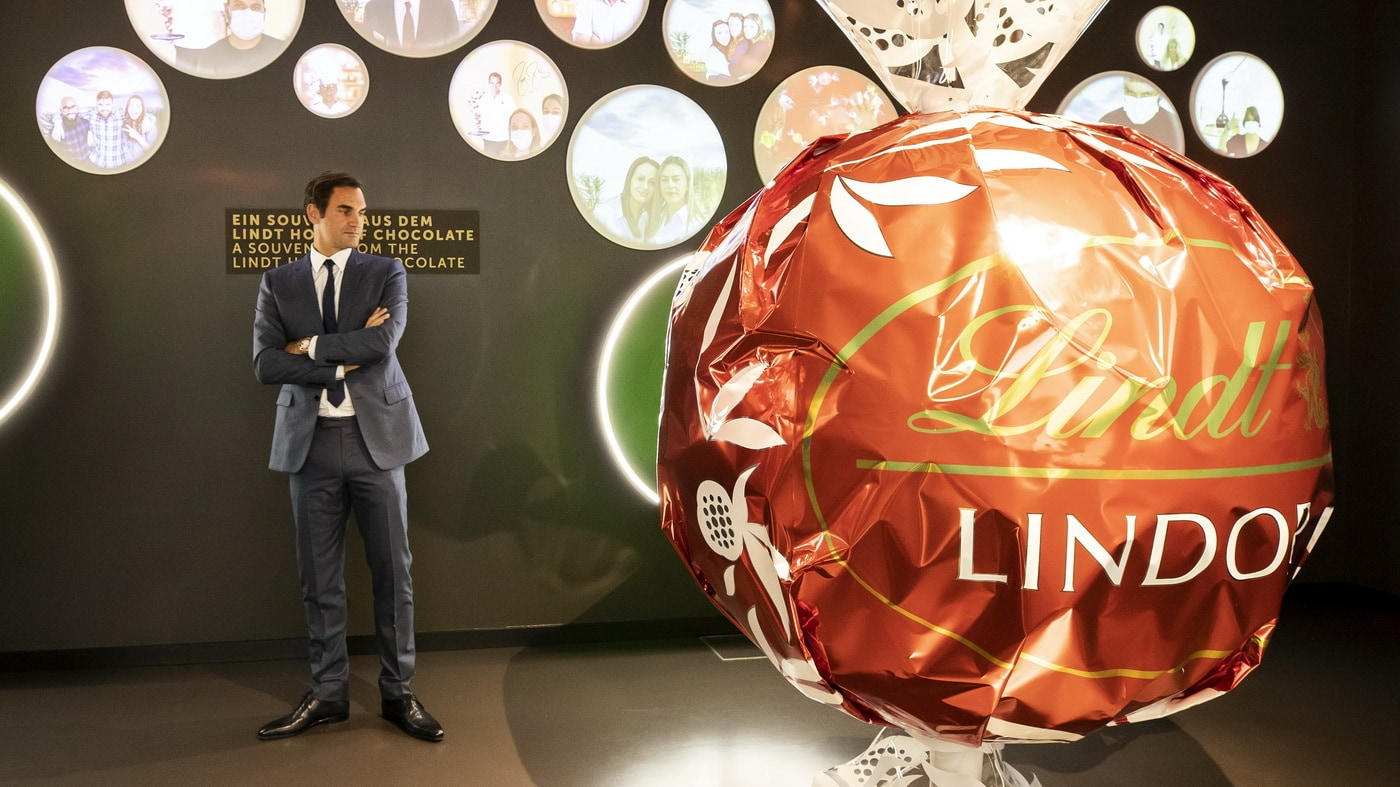 Roger Federer im Lindt Home of Chocolate (c) Lindt & Sprüngli / KEYSTONE / Ennio Leanza