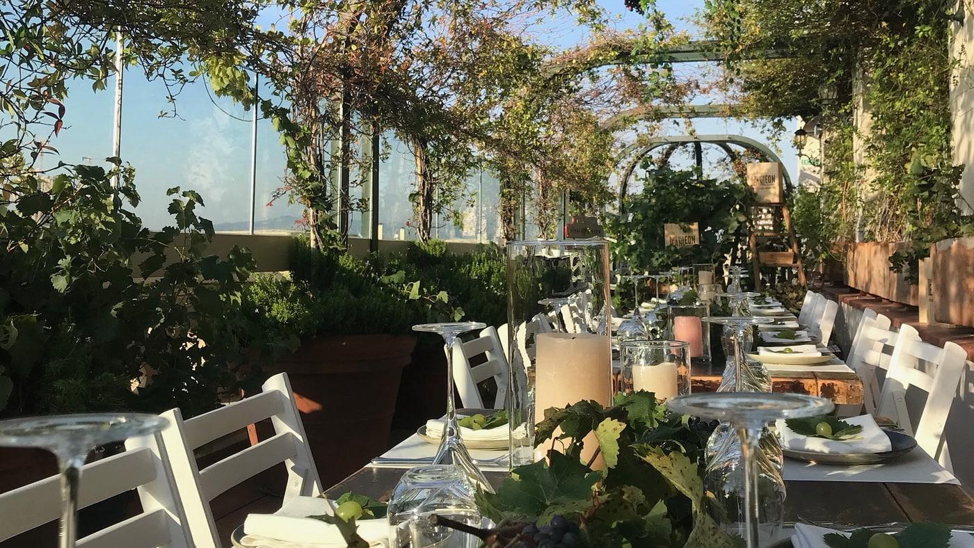 El Palace Barcelona Dachgarten
